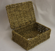 Arpan Small New Seagrass Storage Basket Hamper With Lid