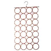28-hole Ring Rope Slots Holder Hook Scarf Wraps Shawl Storage Hanger Organiser