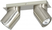 Ranex 6000.524 2 Spot Wall Light GU10 Eco 2 x 35 W Brushed Stainless Steel