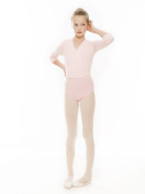 Girls Pink Dance Ballet Crossover Cardigan Wrap All Ages By Katz Dancewear