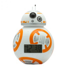 BulbBotz Star Wars Episode 18cm BB-20cm Plastic Clock, White/Orange