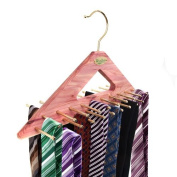 Woodlore Tie Rack Hanger for 40 Ties from Caraselle