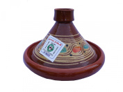 Moroccan Tagine Cooking Pot, Terracotta. Authentic, Rustic. Hand-thrown/Hand-painted for 2 people