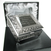 Mum Christmas Gift, Engraved Silver Plated Trinket Box in a Satin Lined Presentation Box, Mum Gift Ideas