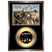 THE LIBERTINES - SIGNED FRAMED GOLD VINYL RECORD CD & PHOTO DISPLAY