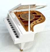 Grand Piano shaped music box with ballerina - plays Beethoven's Fur Elise