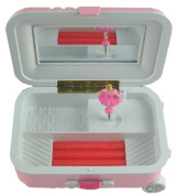 Pink Trolley Case Model Clockwork Musical Box Decorative Jewellery Storage Box