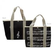 Canvas Tote Bag - Sheet Music Design