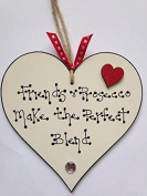 Friends & Prosecco The Perfect Blend Heart Hanging Plaque Friend sign Wine