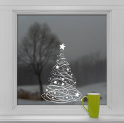 Swishy Tree Christmas Window Cling Decoration