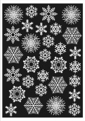 Christmas Window Decorations 60 Snowflakes. Static Cling Stickers. Fast Dispatch and.