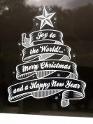Joy to the World Christmas Window Cling Sticker by Stickers4