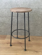 Barley Twist fixed height kitchen & bar stool - Pewter