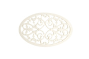 French Kitchen Collection Trivet Oval Small Ivory