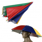 Chinatera Elastic Headband Sun Rain Umbrella Hat Cap for Fishing Camping