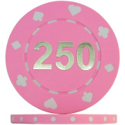 Suited Numbered Poker Chips - Pink 250