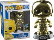 Funko Pop Vinyl Star Wars Metallic C3PO - 2015 Summer Convention Exclusive