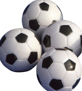 Gamesson Table Football Balls (Pack of 4) - Black/white, 32 mm
