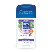 Kiss My Face Active Life Deodorant Lavender - 70ml - Gluten Free - The natural formula will keep your fresh and confident all day long