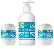 "Fresh Kidz Boys ""Blue"" Natural Deodorant and Body Wash Set"