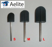 """A+Elite Rubber Mandrel Drill Bit For Pedicure Manicure Callus Nail Filing Sanding Caps 3/32"""" Stainless Steel Shaft"""