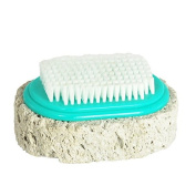 Japanese Scrub Pumice Stone w/ Brush for Hands Knees Foots Callus Remover Tool