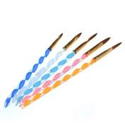 BoxGoGoGo 5 X 2 Ways Acrylic Nail Art Brush Pen Cuticle Pusher