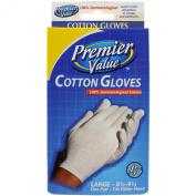 Premier Value Cotton Gloves Large - 1pr