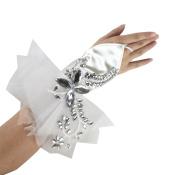 Exquisite Fingerless Rhinestone & Sequins Bridal Lace Gloves