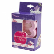 Spongeables 30 Plus Pedi Scrub Infused Foot Buffer with Container Purple Lavender Chamomile Scent