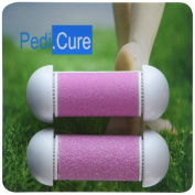 Replacement Rollers NOW IN PINK- 2-Pack Refill Roller Heads for Pedi.Cure Solutions, the Best Callus / Dead Skin Remover, Professional Micro Pedicure Foot File Tool, Pumice Roller, Easy & Portable, .  d - PINK