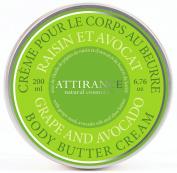 Attirance - Body Butter Cream - Grape & Avocado - 200ml - All Natural with Avocado Oil, Shea Butter & Grape Seed Oil