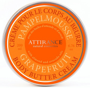 Attirance - Body Butter Cream - Grapefruit - 200ml - All Natural with Grapefruit Essential Oil, Shea Butter & Avocado Oil