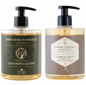 PANIER DES SENS Honey Liquid Marseille Soap and Olive Liquid Marseille Soap Set