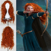 Superwigy® Long Curly Lady's Fashion Sexy Synthetic Hair Orange Kinky Curly Full Wig/wigs