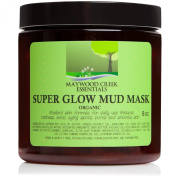 Facial Mud Mask ORGANIC and Made in the USA - Includes Ebook - Smooths Skin and Reduces Pores - Improves Acne, Ageing Spots, Redness, Blemishes, Pimples, Blackheads - Reduces Fine Lines & Wrinkles