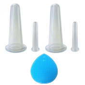 4 Facial Spa Cupping Therapy Set - Anti-Ageing, Reduce Wrinkles, Skin Lifting, Face Massage Cups