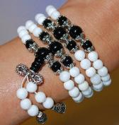Mini Mala- White Jade Necklace