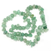 "AAA Natural Green Aventurine Gemstones Round Chips Beads Free-form Loose Beads ~10x8mm beads for Jewellery Making (1 strand, ~16"") GZ3-6"