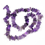 "AAA Natural Amethyst Gemstones Round Chips Beads Free-form Loose Beads ~10x8mm beads for Jewellery Making (1 strand, ~16"") GZ3-2"