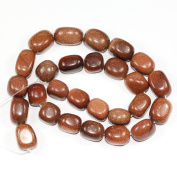 "AAA Natural Gold Sand Gemstones Smooth Round Nugget Loose Beads ~13x10mm beads for Jewellery Making (1 strand, ~16"") GZ4-8"