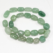 "AAA Natural Green Aventurine Gemstones Smooth Round Nugget Loose Beads ~13x10mm beads for Jewellery Making (1 strand, ~16"") GZ4-2"