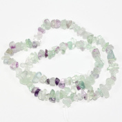 "AAA Natural Fluorite Gemstones Smooth Chips Beads Free-form Loose Beads ~8x5mm beads for Jewellery Making (1 strand, ~16"") GZ1-14"