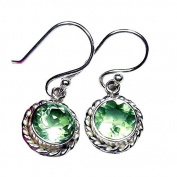 Sitara Collections SC10418 Green Amethyst Faceted Sterling Silver Earrings