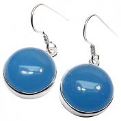 Sitara Collections SC10454 Blue Chalcedony Handmade Sterling Silver Earrings