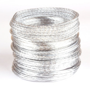 Beading Wire Silver Style Set Ii - 5 Coils of Artistic Aluminium Wire for Jewellery, Crafting - 12-gauge, 5m Per Coil.
