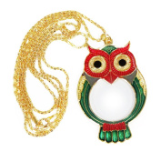 Pocket Pendant Necklace Jewellers and Hobbyists Owl Magnifying Glass Eye Loupe