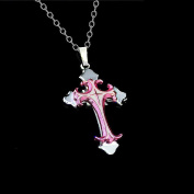 Onairmall Unisex Fashion Gift Crucifix Cross Stainless Steel Pendant Necklaces