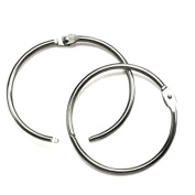 Hygloss Products Book Rings – 2.5cm Silver Steel Metal Binder Rings, 12 Pack