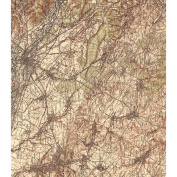 Craft Consortium Decoupage Papers 35cm x 40cm 3/Pkg-Vintage Map 2